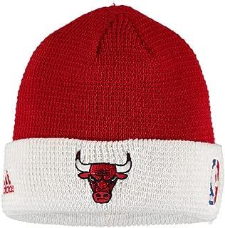 adidas NBA Chicago Bulls Team Cuffed Knit Beanie (Red/White)