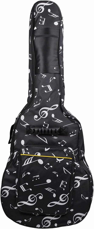 SUQ 40/41 Inch Resistente Al Agua Oxford Bolsa de Guitarra con Bolsillo de Atril Música, Funda de Guitarra Universal, Acolchado Interno de 8mm Bolsa para Bajo Electrico, Guitarra Acústica, Clásica