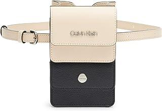 Calvin Klein womens Calvin Klein Tonya Calf Leather Belt Bag Beige Size: One Size