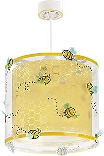 Dalber 71092 A to C, Bee Happy Biene Hängelampe, Plastik, E27, Mehrfarbig, 26.5 x 26.5 x 25 cm