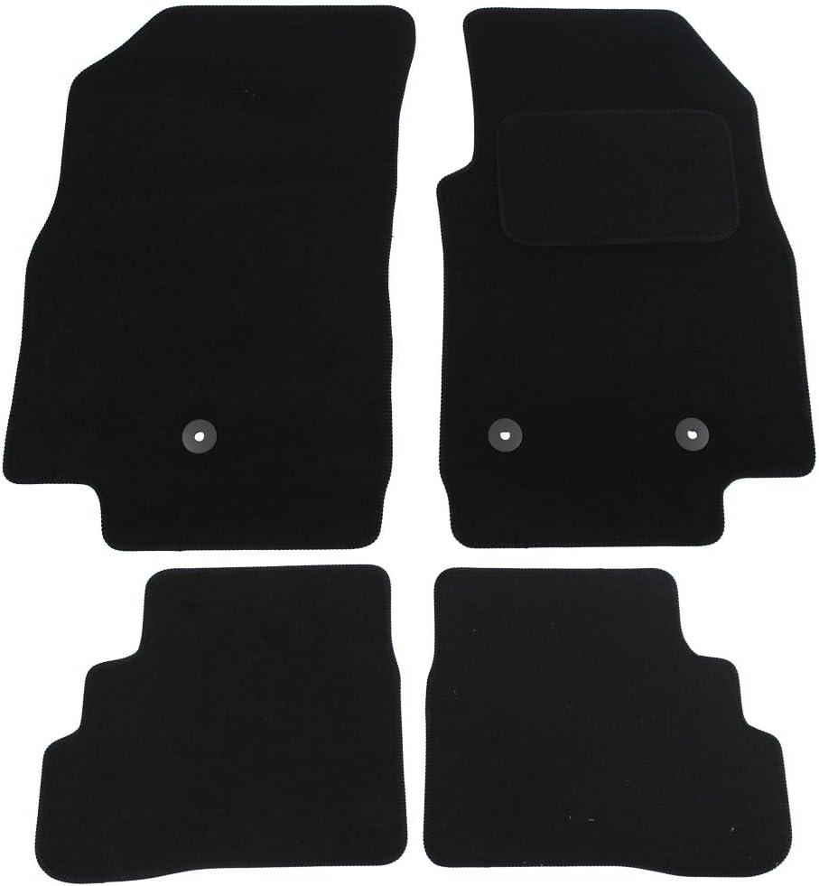 JVL Fully 高品質 Tailored 4 Piece Black Mat 3 Clips Set with 新品未使用正規品 Car