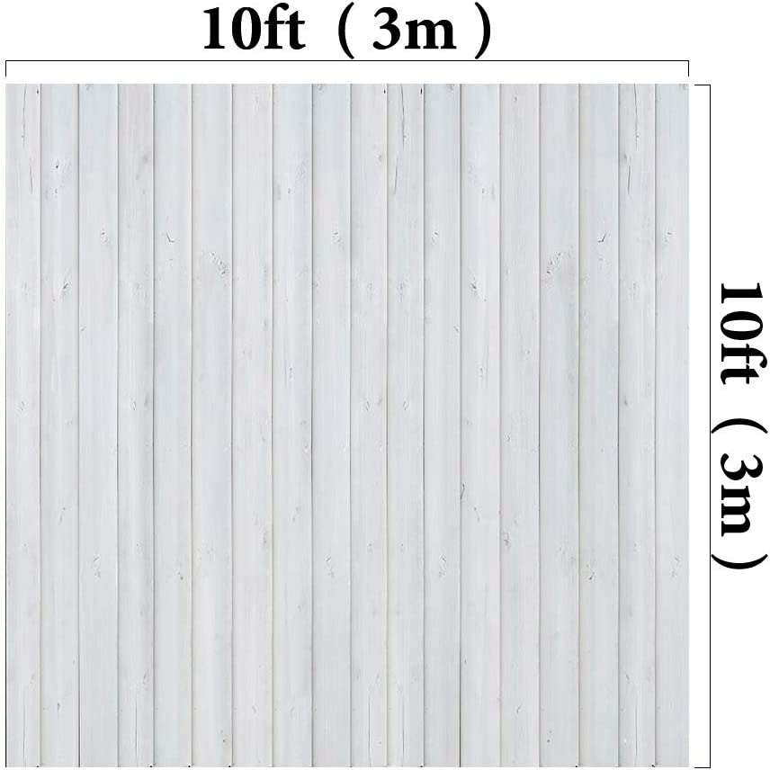 Kate 7x5ft//2.2x1.5m White Wood Backdrops Wooden Floor Photography Shoot Studio Props