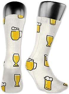uytrgh, Mujeres Hombres Calcetines Dibujos Animados Verano Cerveza Vestido Manguera tripulación Tobillera Corta para Fitness Hermosa 5989
