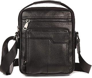 Black Handbag,Men's Genuine Messenger Shoulder Bag,Leather Handbag,Crossbody Briefcase(Brwon)