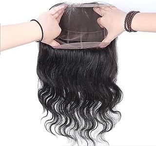 CZ Hair 360 Closure Brazilian Body Wave Virgin Hair 360 Lace Frontal Closure Natural Hairline Circular Closure (360 closure 12 inch)