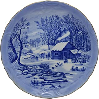 Currier & Ives A Home in The Wilderness Plate