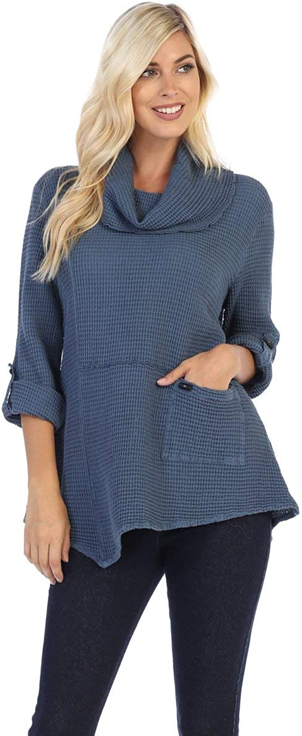 Fashion Focus Asymmetric Cowl Neck Tunic Top