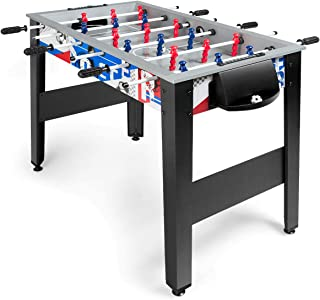 Giantex 42'' Foosball Table, Soccer Table Game w/ 2 Footballs, Suit for 4 Players, Competition Size Table Football for Kids, Adults, Football Table for Game Room, Arcades