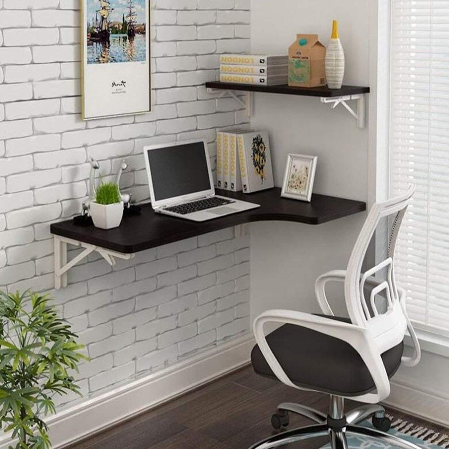 GWM Wall-Mounted Folding Table Dining Table Drop Leaf Computer Desk Note Desk (color   F, Size   80  60  40cm)