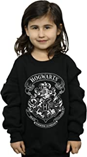 HARRY POTTER niñas Hogwarts Crest Camisa De Entrenamiento 9-11 Years Negro