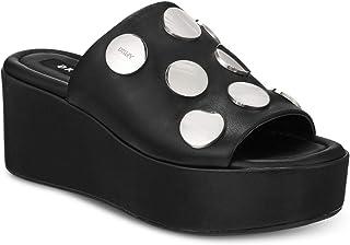 5791c3f75f DKNY Womens Catrina2 Leather Open Toe Casual Platform Sandals