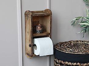 Chic Antique Ścienny papier toaletowy, rolki sedesowe, uchwyt w kształcie cegły, drewno