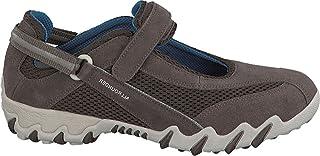 حذاء مسطح Allrounder من MEPHISTO Niro Mary Jane - جلد بني داكن من جلد الغزال/S - نسائي - 8. 5