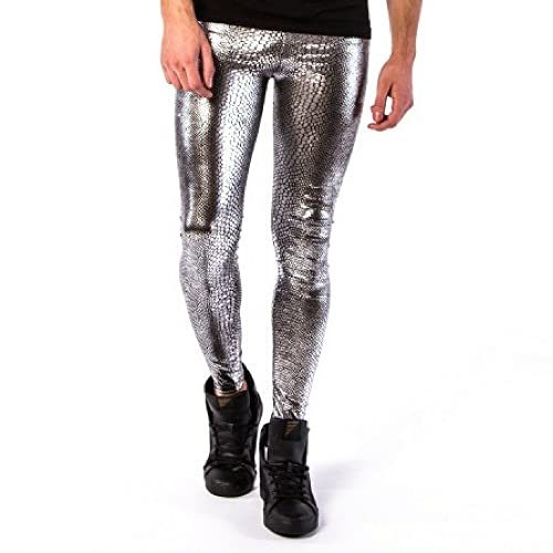 27da1fe8ab60d8 Kapow Meggings New Metallic and Wet Look Leggings for Men, Faux Leather &  Holographic,
