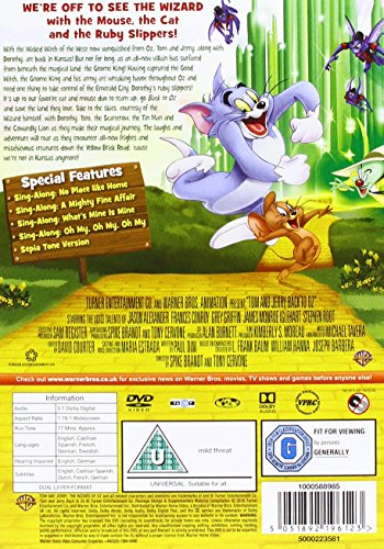 Tom And Jerry: Back To Oz [DVD] [2016]