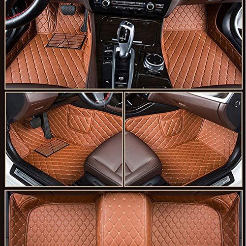 N\A Alfombras de Auto, Alfombrillas de Coches for Accesorios V-W Ki-a Ben-Z Ma-z-da Ni-SS-un J-EE-p Peu-GEOT Re-Nault Vo-l-Vo arpet Coche (Color Name : Brown)