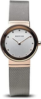 BERING Time 10126-066 Womens Classic Collection Watch with Mesh Band and Scratch Resistant Sapphire Crystal. Designed in Denmark.