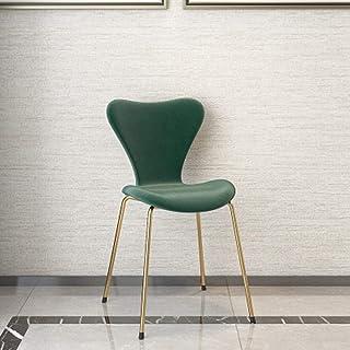 QFWM Sillas de Comedor Inicio Moda Silla de Comedor Simple Respaldo Silla de Comedor for Sala de Estar y Comedor Cocina Comedor Muebles (Color : Green, Size : 46x37x80cm)