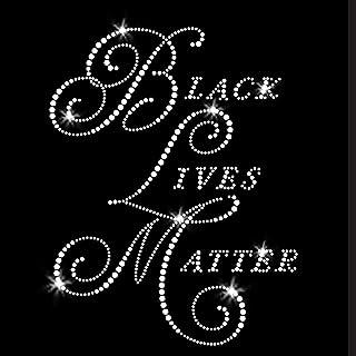 Black Lives Matter Iron On Rhinestone Crystal T-Shirt Transfer by JCS Rhinestones
