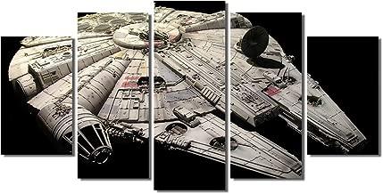 Picture Sensations Framed Canvas Art Print, Star Wars Millennium Falcon Wall Canvas Art - 60