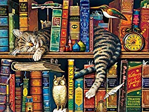 """Buffalo Games - Charles Wysocki - Frederick the Literate - 750 Piece Jigsaw Puzzle Multicolor, 24""""L X 18""""W from Buffalo Games"""