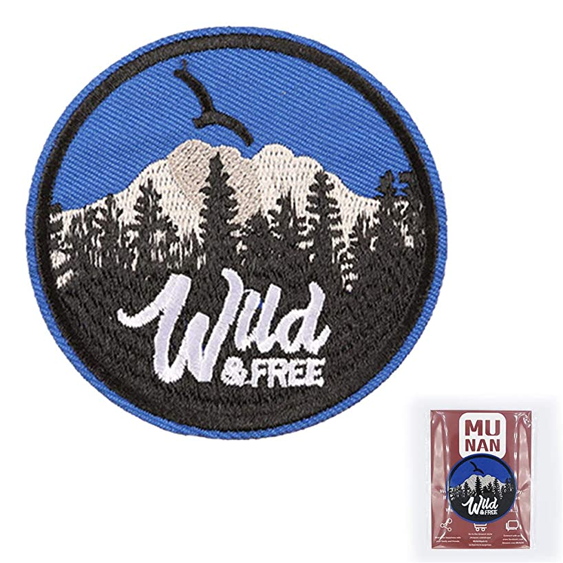 MUNAN Eagle Wud & Free Iron On Patch Embroidered Patches Pink Cactus Iron On Sewing Badge Applique for Clothes Jacket Jeans Cap