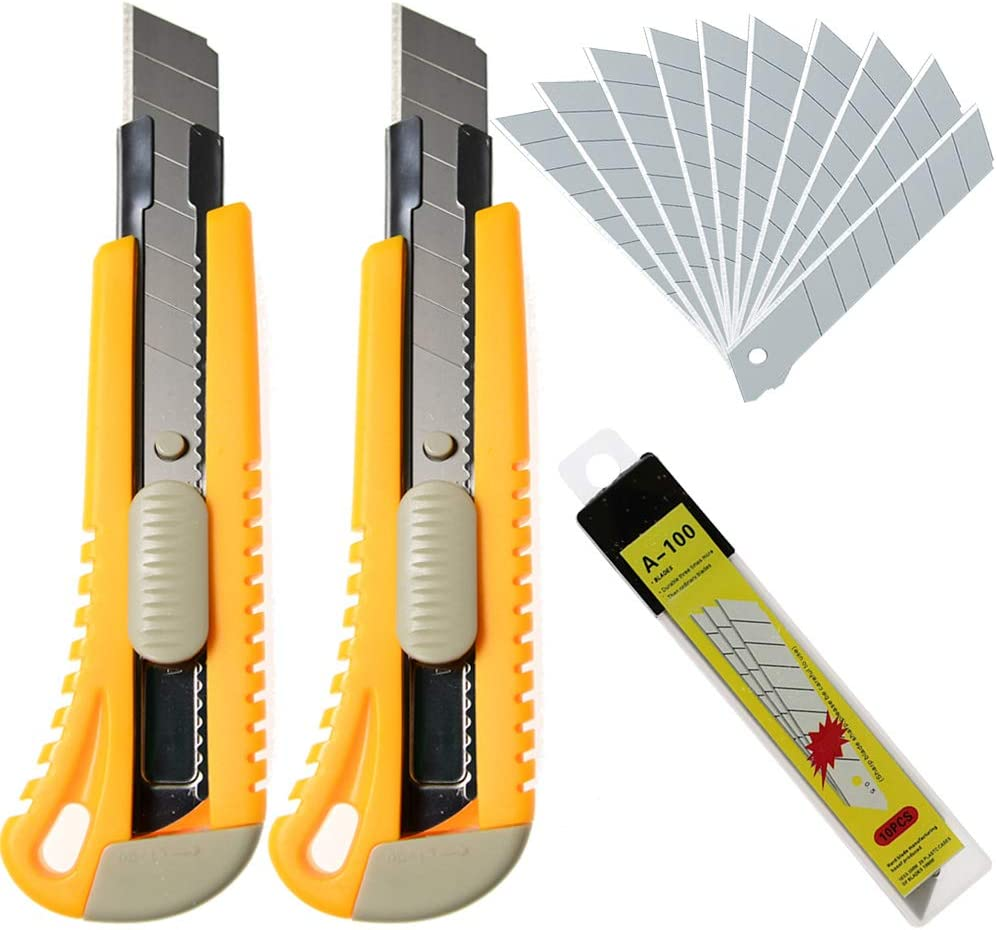 WEKOIL Utility Ranking TOP9 Knives Retractable Box Off Max 43% OFF Cutter 18mm Wide Snap