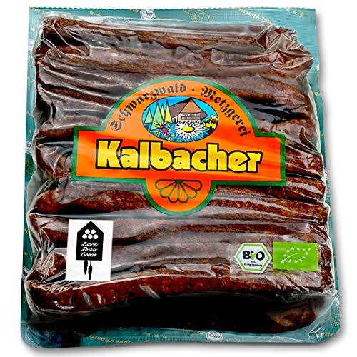 Schwarzwälder BIO Landjäger - 10 Paar - Kalbacher Rohwürste - Hoher Anteil mageres Rindfleisch - Geringer Fettanteil - Atmosphärenpackung - BIO - Hergestellt im Schwarzwald