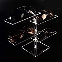 Lanscoe Acrylic Eyeglasses Sunglasses Display Case Organizer Box Eyewear Rack Holder 4 Tier Storage Tray for Men Women Store Exhibit Presentation Showcase