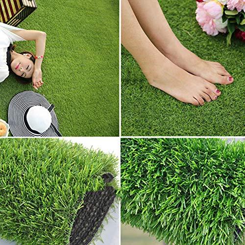 Synthetisch kunstgras, hoge dichtheid grasmat 20mm met drainage gaten huisdier Turf Astroturf tapijt voor binnen buiten nep gras 200x300cm(79x118inch) Groen