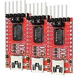 AZDelivery 3 x Adattatore Seriale FT232RL da USB a TTL per 3,3V e 5V con eBook