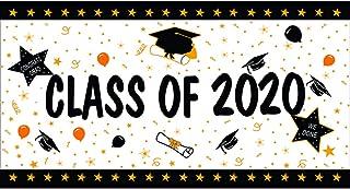حفل التخرج من فنست كلاس لعام 2020، ديكور لافتة للحفلات، حفلة التخرج في الفناء وديكور الحديقة الخارجية 91.44 سم × 180.32 سم