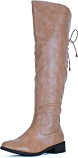 Guilty Heart | Womens Comfortable Zipper Western Riding Buckle Knee High Boot