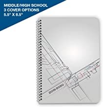 Dated Middle or High School Student Planner 2019-2020 Academic Year, 5.5x8.5 inch Block Style Datebook with Wabash Perspective Cover