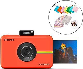Polaroid Snap Touch 2.0 - Cámara digital portátil instantánea de 13 Mp Bluetooth pantalla táctil LCD tecnología Zink sin tinta y nueva aplicación copias adhesivas de 5 x 7.6 cm rojo