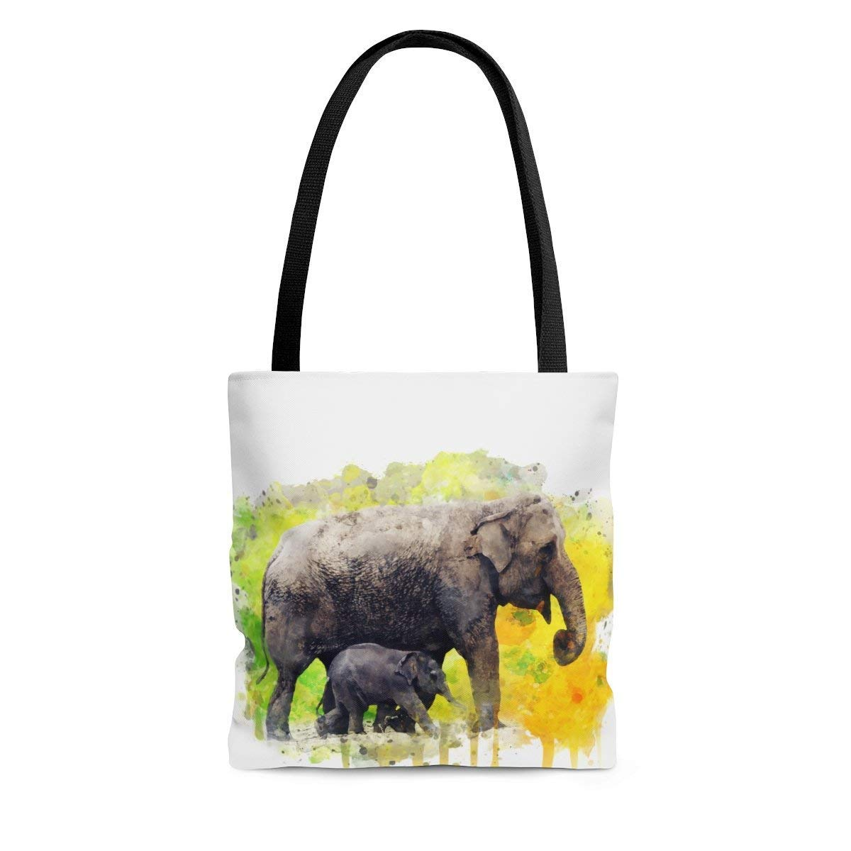 Watercolor Elephant Tote Bag Beach Raleigh Mall Grocery Books Bombing free shipping