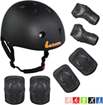Lanova Toddler Helmet Kids Knee Pads for 3-8 Years Toddler Youth Bike Skateboard Helmet Knee Elbow Wrist Pads for Roller Bicycle Bike Skateboard and Other Extreme Sports Activities