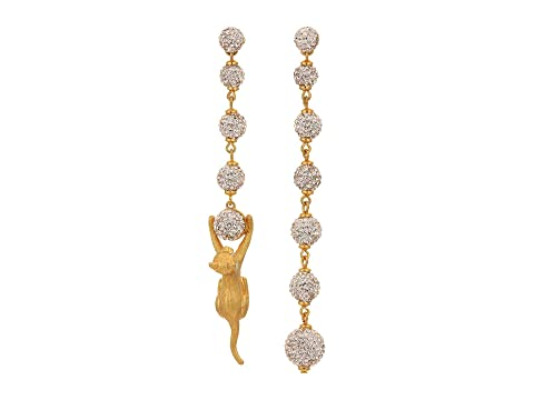Kate Spade New York House Cat Pave Linear Earrings