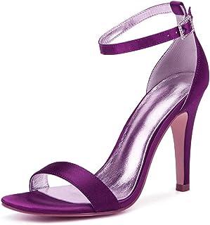 esMorado Tacón Zapatos De MujerY Amazon Para N0OPnX8wk