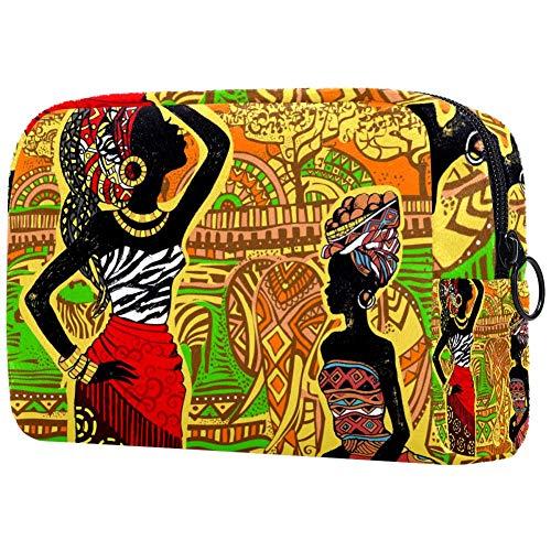 Beau sac de maquillage portable pour femme avec imprimé
