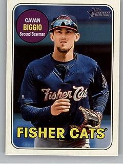 2018 Topps Heritage Minor League #132 Cavan BiggioHampshire Fisher Cats Baseball Card