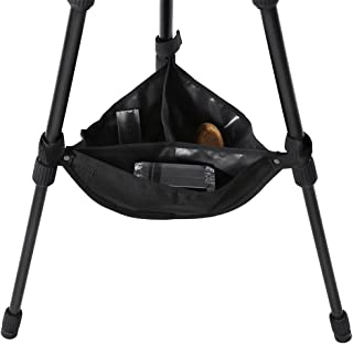 Tripod Stone Bag, Black Universal Heavy Duty Durable Tripod Boom Stand Stabilizer Stone Bag Photography Tackle Accessory