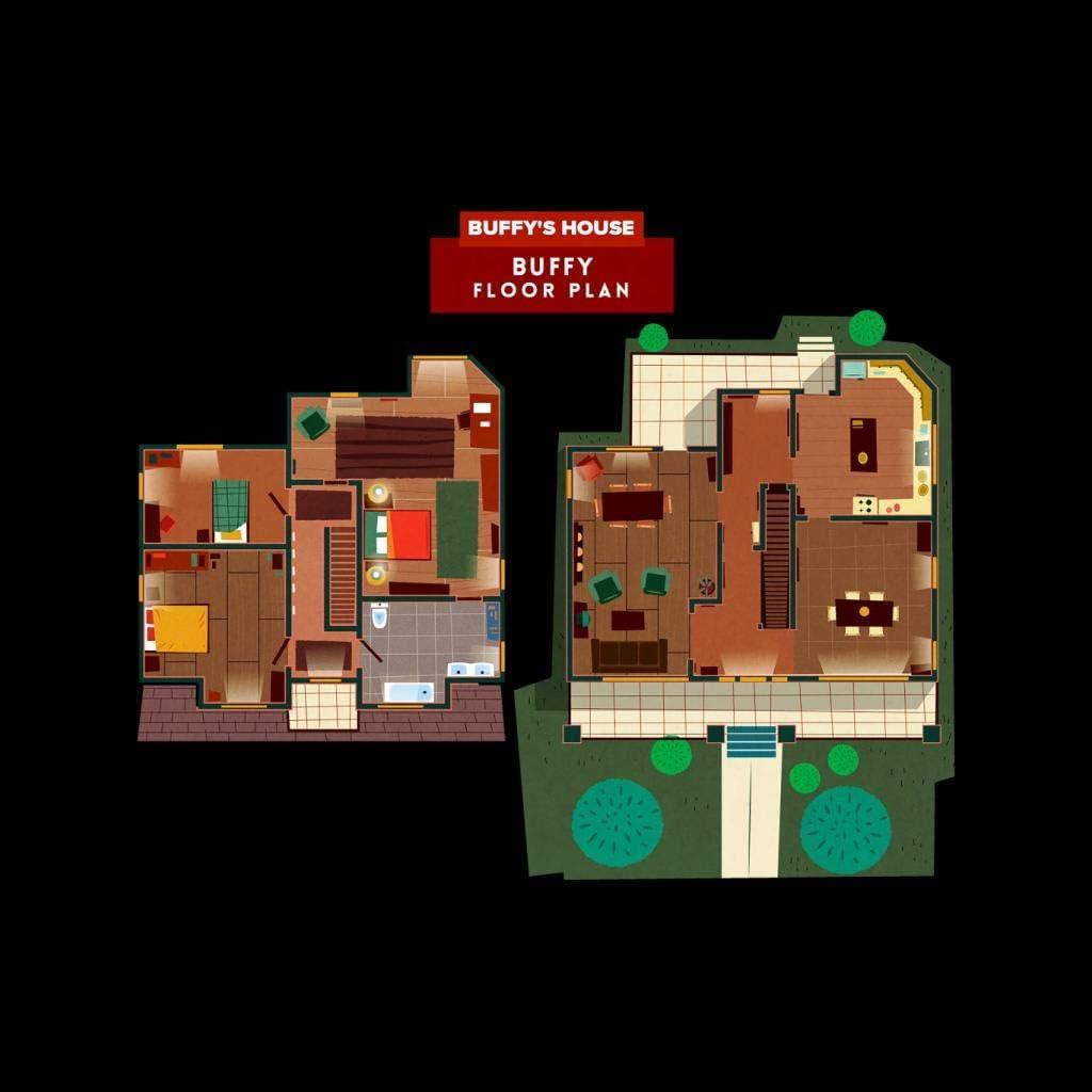 Cloud City 7 Buffy The Vampire Slayer House Floor Plan Kid S Varsity Jacket Amazon Co Uk Clothing