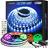 Led Strip Lights 16.4 feet 2 Rolls 5050 Rgb Color Changing 300 Leds 32.8 feet Strips with IR Remote Controller Power Kit for Home Bedroom Kitchen DIY