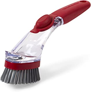 KitchenAid Soap Dispensing Sink Brush, Red