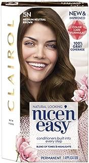 Clairol Nice'n Easy Permanent Hair Color Medium Natural Brown 5N (Pack of 4)
