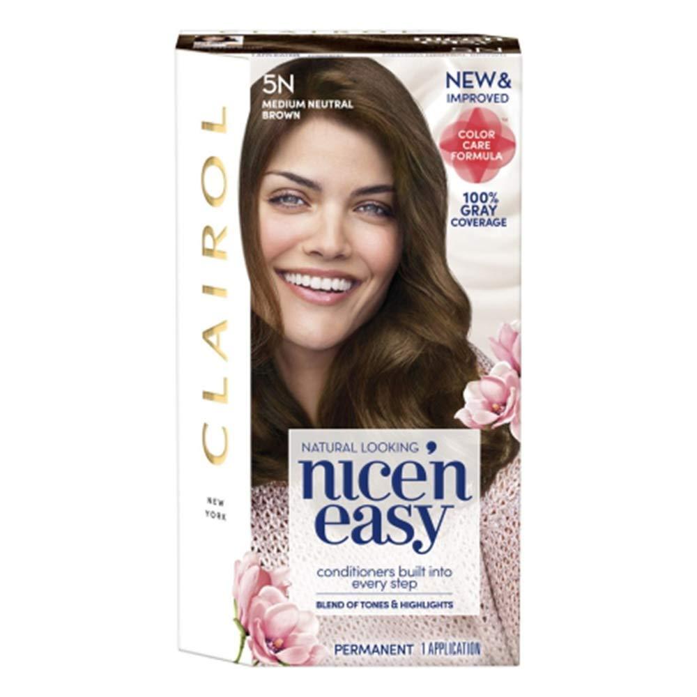 Clairol Nice'n Credence Easy Sale special price Permanent Hair Natural Brown Color Medium 5N