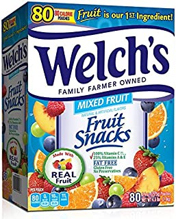 Welch's Fruit Snacks, Mixed, 80 Count (Pack of 1)