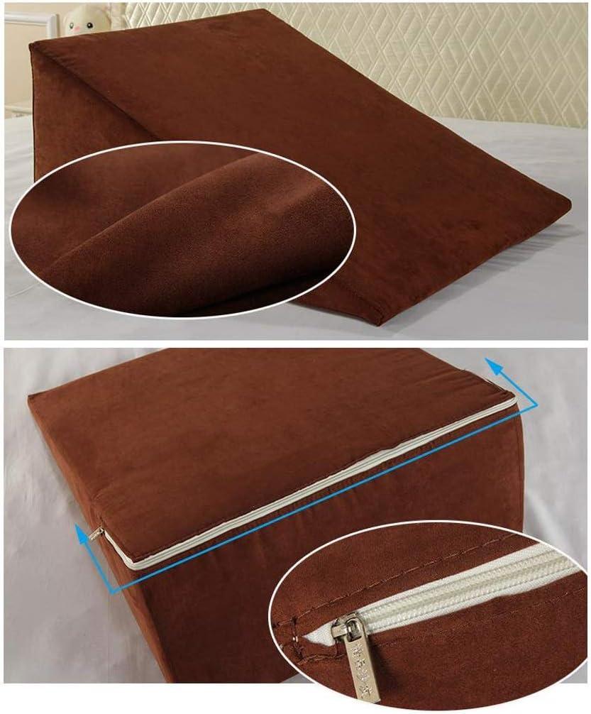 XXT-oreiller Triangle Pad Dossier Coussin Mixte Spinning Oreiller canapé lit Chaise de Bureau Coussin de Repos (Color : Gray) Brown
