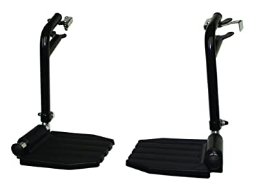 """FRB412 - (1 Pair) Top Latch Black Footrest, Hemi Pin Spacing, Plastic Footrest, The pins These Hang on Have Spacing of 1 3/8"""" Apart, Please Measure, Look at Photos"""